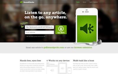 listen or hear web article by soundgecko